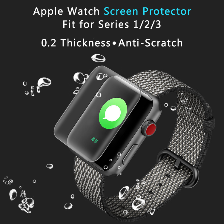 9H Full Cover Premium Tempered Glass Screen Film Protector For Apple Watch Series 3