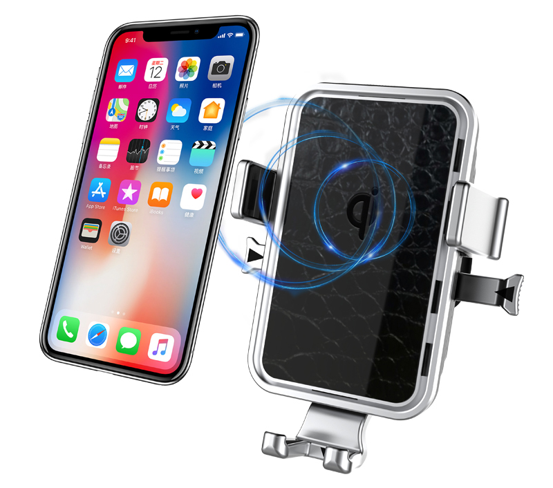 Qi Certificate 360 Rotatable Car Magnetic Holder phone stand car wireless
