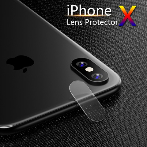 Glass Camera Lens Film Cover For iPhone X