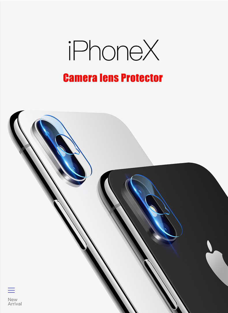 iPhone x Glass Camera Lens & Flash Lamp Back Protector Cover