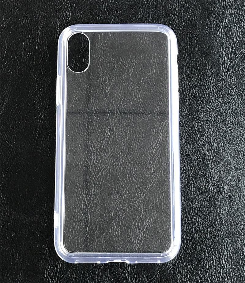 Transparent Glass with TPU All in ONE Phone Case for iPhone