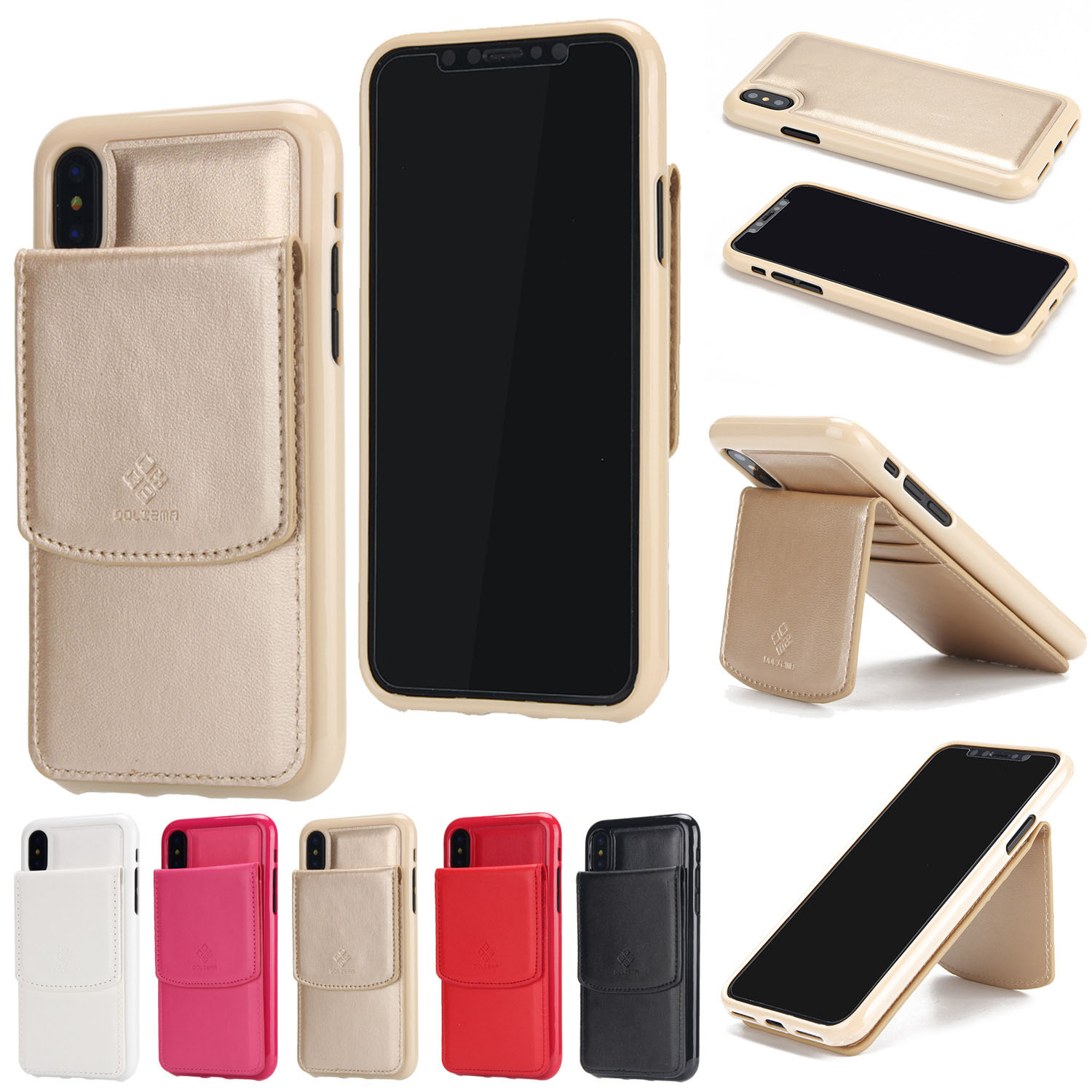 Best selling items mobile phone case for iphone, 2 in 1 wallet leather case for iPhone X