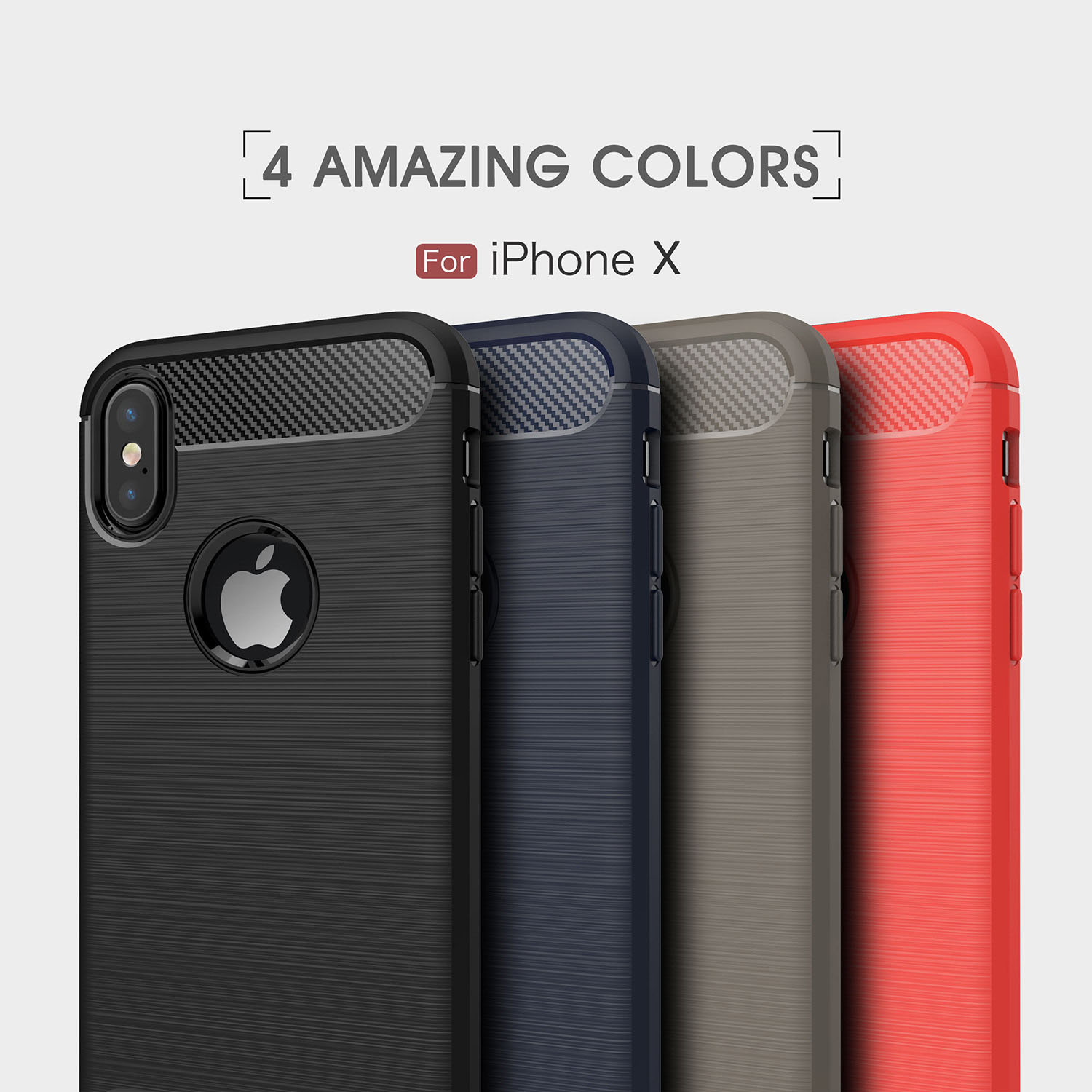 Carbon Fiber Phone Case For iPhone X